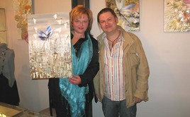 The first buyer of the painting is our friend - actress Alexandra Yakovleva and Dmitry Kustanovich