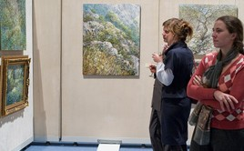 "Personal exhibition of paintings by Dmitry Kustanovich named ""Melodies of a Christmas Petersburg"" took place at the ""Smolny Cathedral"" concert and exhibition hall, St. Petersburg"