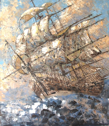 Sold paintings Sails filled with the wind