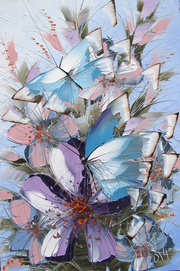 Sold paintings From the series Butterflies