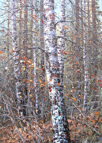Sold paintings Autumn birch