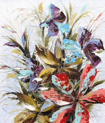 Sold paintings Holiday bouquet