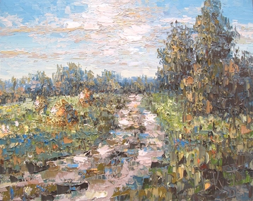 Sold paintings The etude Country Path