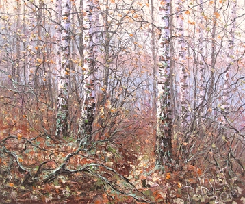 Sold paintings In the autumn forest. From the series My Little homeland - Belarus