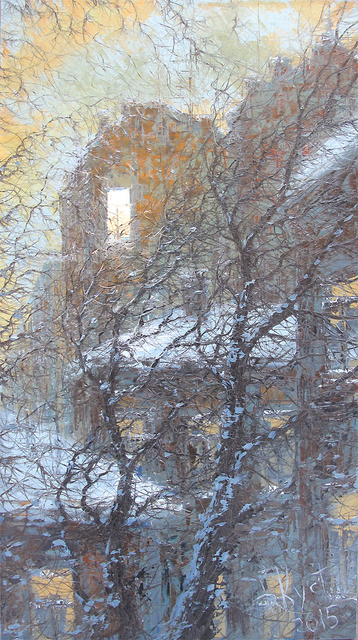 Sold paintings Window and winter wind