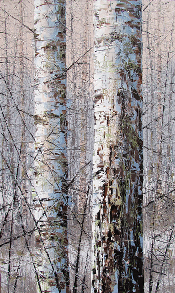 Sold paintings Two birches
