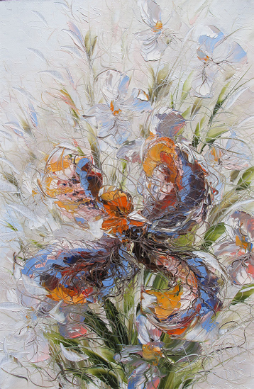 Sold paintings Irises