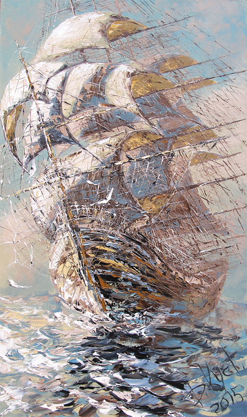 Sold paintings Under full sail