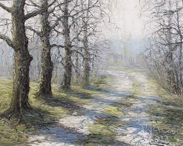 Sold paintings The etude The spring road