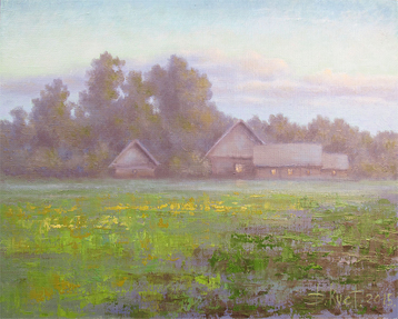 Sold paintings The etude Summer Evening