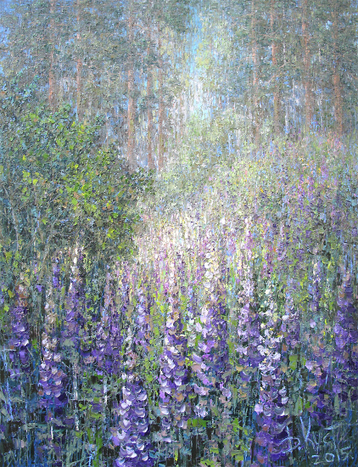 Sold paintings The lupine