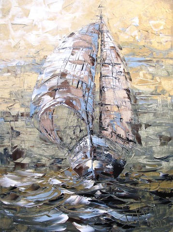 Sold paintings The sailing ship