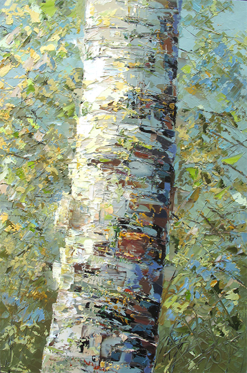 Sold paintings Etude Birch