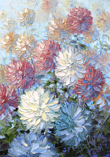 Sold paintings Summer flowers