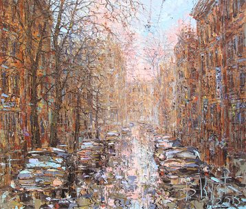 Sold paintings Autumn street of St. Petersburg