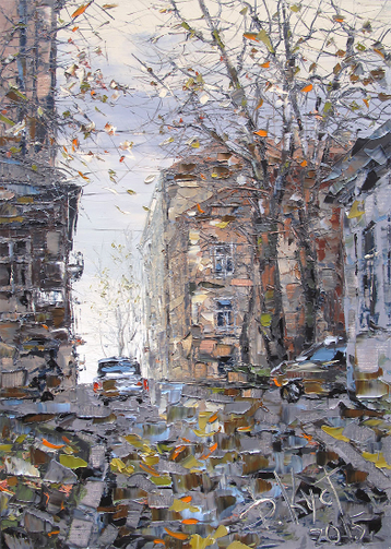 Sold paintings Fall in Vyborg