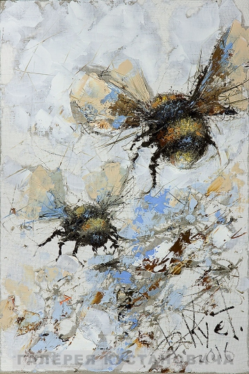 Sold paintings Flight of the bumblebees