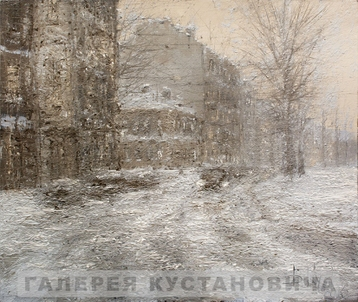 Sold paintings Snowstorm in St. Petersburg