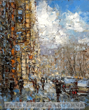 Sold paintings Spring day in St. Petersburg