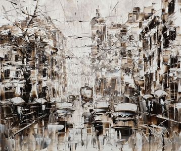 Sold paintings From series City Rains