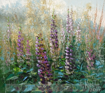Sold paintings Lupine
