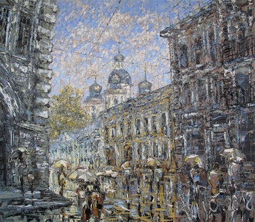 Sold paintings View of St. Vladimir's Cathedral Forge Lane