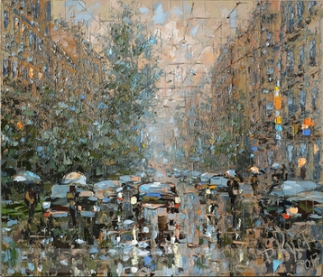 Sold paintings Summer rain