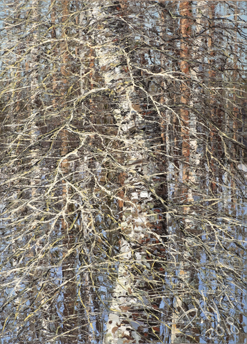 Sold paintings Birch in early spring