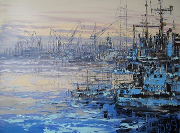 Sold paintings View of the Admiralty Shipyards