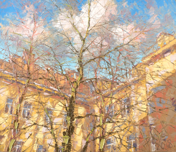 Sold paintings Spring sky of St. Petersburg