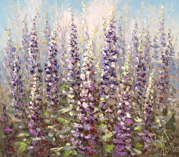 Sold paintings Lupins
