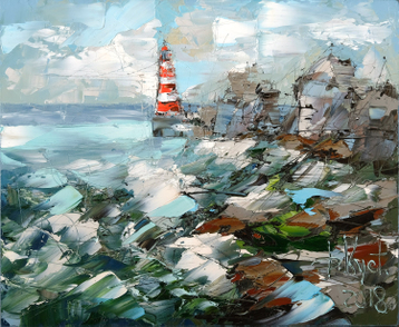 Sold paintings Lighthouse