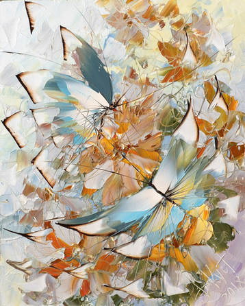 Sold paintings From series «Butterflies»