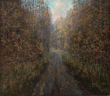 Sold paintings Road in autumn forest