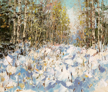 Sold paintings Etude in the spring forest