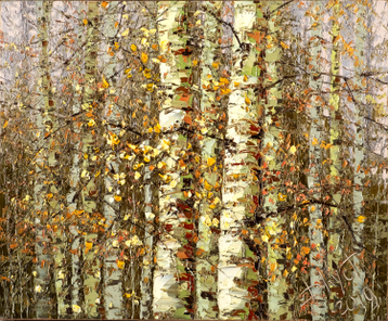 Sold paintings Autumn birches
