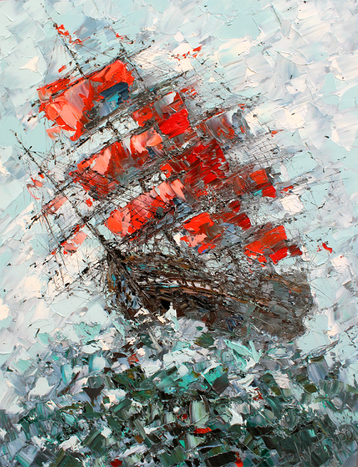 Sold paintings Scarlet sails
