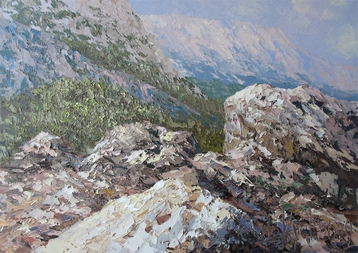 Sold paintings At the foot of the mountains. From the series Crimea