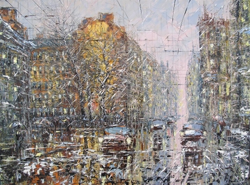 Sold paintings Evening Snow