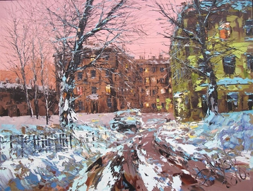 Sold paintings Winter evening