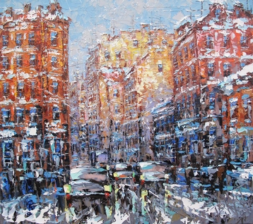 Sold paintings Sunny winter day in St. Petersburg