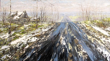 Sold paintings Road in the early spring. From  series Etudes at a Wheel