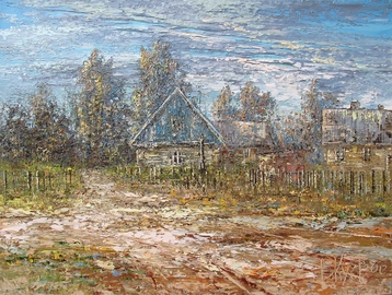 Sold paintings Before the evening prayer. From the series My Little homeland - Belarus