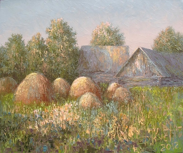 Sold paintings The farm at dawn