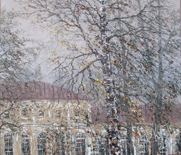 Sold paintings Autumn birch. Alexander Nevsky Lavra