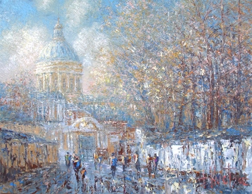 Sold paintings The sun in October. Alexander Nevsky Lavra