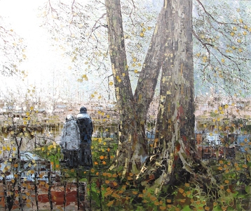 Sold paintings Among the autumn silence. Nikolskoye cemetery