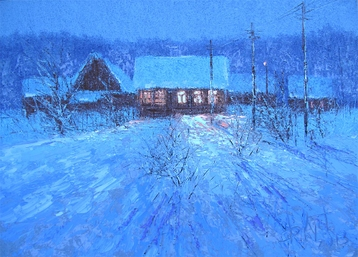Sold paintings Christmas evening