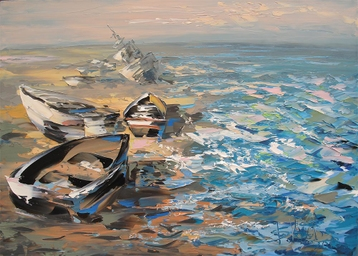 Sold paintings From the series Fishing boats
