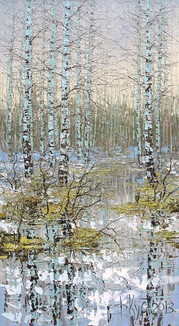 Sold paintings Spring birches